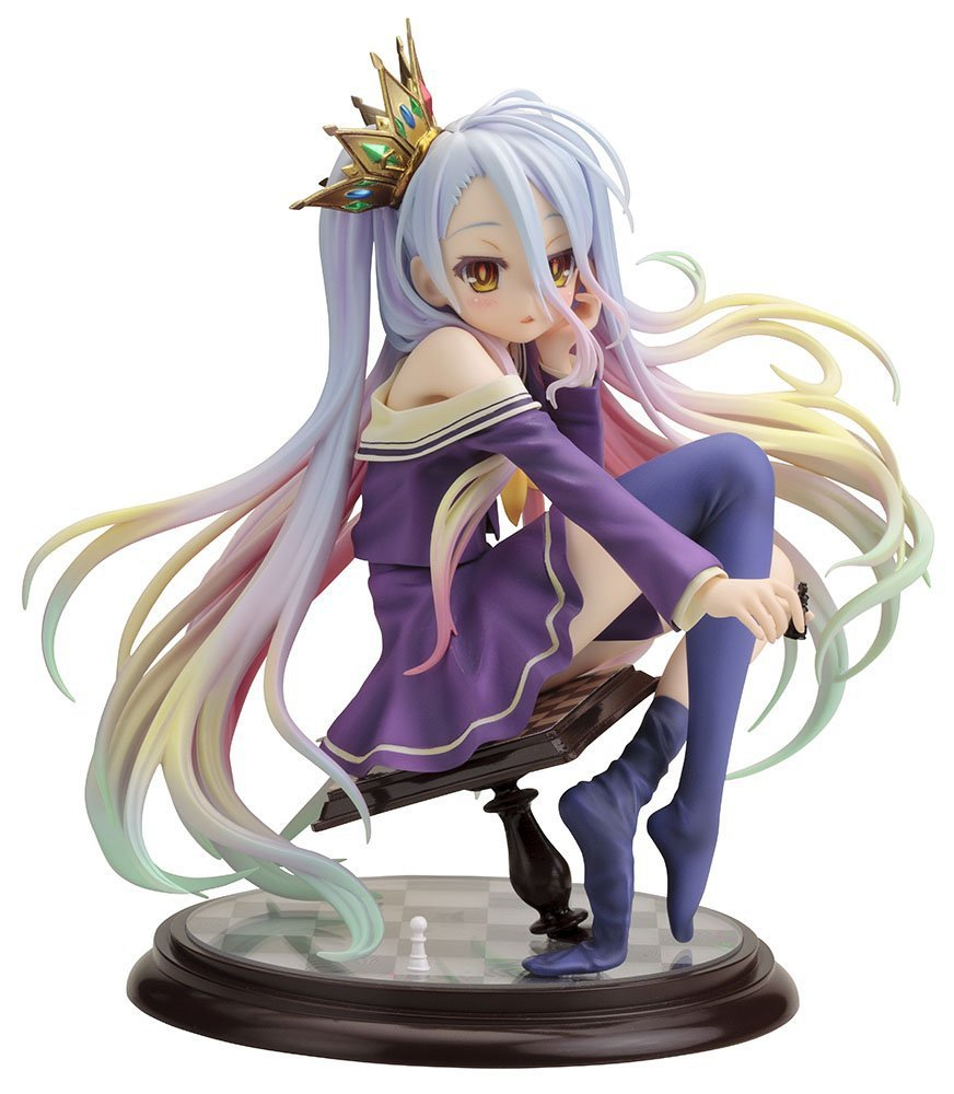 New Hot Kotobukiya Shiro Game Anime No Game No Life Ani Statue Sexy 15CM Action Figure 2016 top brand luxury men s watches men wristwatches stainless steel strap business dress watch reloj hombre time clock men