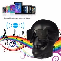 Wireless Bluetooth Speaker Mini Skull Head Shape Halloween Cartoon Gift Portable Speaker For Mobile Phone Computer