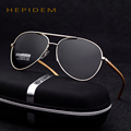 HEPIDEM Band Hot Fashion Aviation Men's Polarized Sunglasses Aluminum Mirror Fishing Rey Sun Glasses for Men Sports Rays Shades