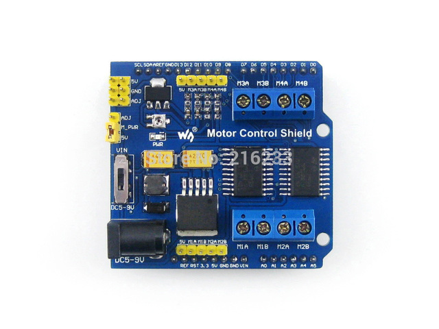 L293D Motor Control Shield Expansion Board Motor Drive Shield For Arduino Duemilanove Mega UNO 4 Channel H-bridge ESD protection
