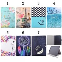 For IPad Pro 12 9 Cover Case Ultra Slim Lightweight Stylish Painting PU Leather Stand Cover