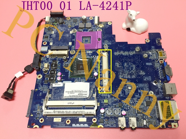 FOR LAPTOP K42 K42A MOTHERBOARD JHT00 01 LA-4241P DDR2 PM45 S478 WITH GRAPHICS SLOT