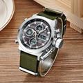2016 Luxury Brand Military Army Watch Men Quartz Analog Clock Canvas Strap Clock Man Sports Watches digital Led Watch Relogios
