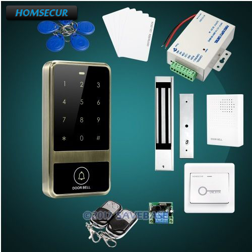 HOMSECUR Waterproof 125Khz RFID Access Control System With 8000 User Capacity + Tamper Alarm Function + Doorbell homsecur waterproof 125khz rfid access control system with 8000 user capacity tamper alarm function doorbell