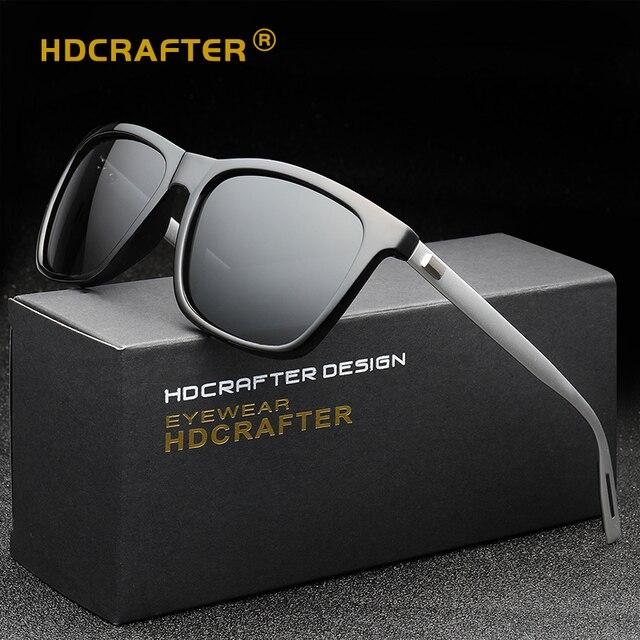 c6d69132c67 Mens Polarized Sunglasses Men Brand Designer Vintage Driving Sun Glasses  Rectangle Shades For Men Oculos masculino Male