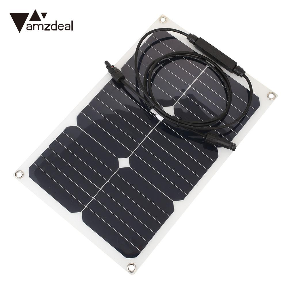 330X280mm Photovoltaic Panels Battery Charger Module DIY Light Weight Portable Charging Solar Energy Board Solar Panel Durable durable light weight and portable black