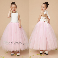 Ellie Bridal Blush Pink Veil Mesh Gorgeous Crinkle Cake Dress Cute Ballet Tutu Flower Girl Wedding