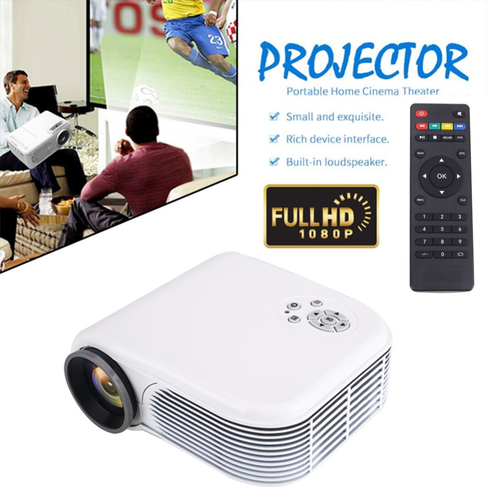 portable Support 3D 7000 lumen LED mini projector For home cinema office teaching theater USB/SD/AV/HDMI/VGA video projector black us pug uc28 mini pico projector home cinema theater digital led lcd projector vga usb sd av hdmi multimedia proyector