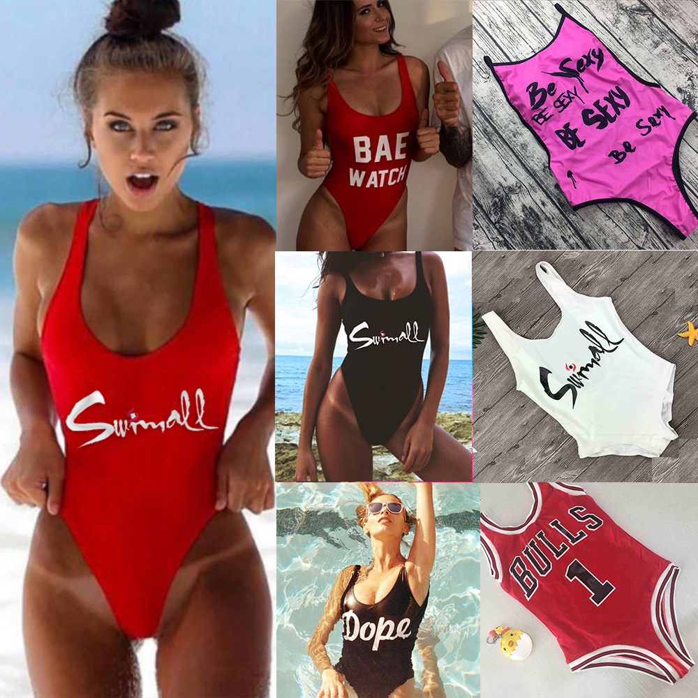 65369c8f0c Detail Feedback Questions about M M Be Sexy Letter One Piece Swimsuit 2018  Padded Bathing Suits Women Summer Beach Swim Wear Monokini Tong Mailot De  Bain ...