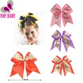 """7"""" Big Sequin Cheer Bows Handmade Bling Girl's Cheerleading Hair Bow With Clips Hair Accessories For Girls Barrettes"""