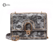 CUMYKA Fashion Mini PU Women Bag 2019 New Girls Small Lock Single Shoulder Crossbody Bags Lady Handbag Vintage Stone Flap