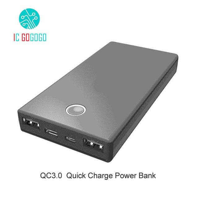 quick charge qc3 0 power bank diy kits 5x18650 battery case shell rh aliexpress com