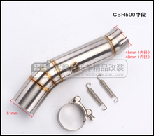 Motorcycle Exhaust middle pipe Connect Pipe Muffler Escap link pipe middle section adapter pipe for HONDA CBR500 CBR 500