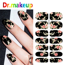 1Sheet Charm Full Cover Water Transfer Stickers Colorful Flower Leopard Black White Nail Art Sliders for Manicure Decoration DIY