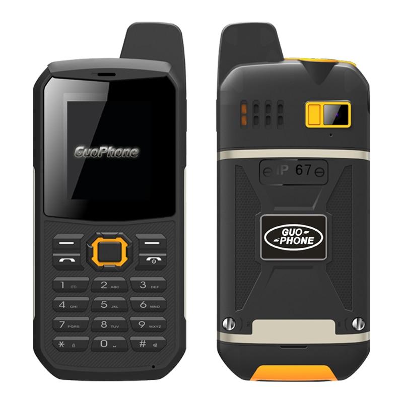 original Guophone V1 IP67 waterproof mobile phone dual sim flashlight powerbank dustproof shockproof band talkback cell