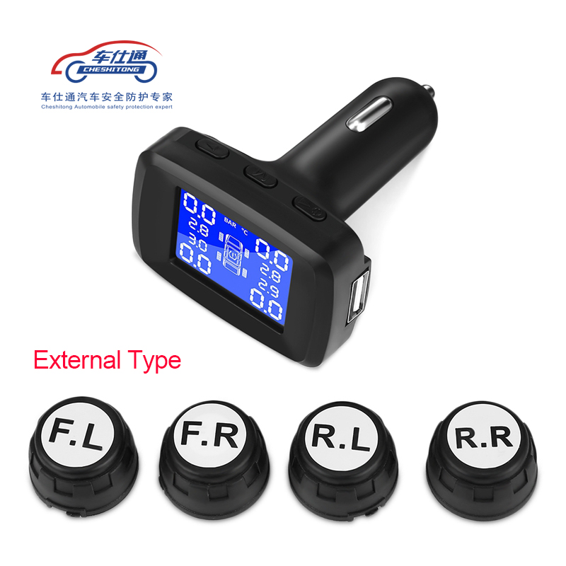 Image 3 - Car cigarette lighter TPMS LED display Internal or external tire pressure monitoring system / wireless transmission TPMS-in Tire Pressure Alarm from Automobiles & Motorcycles