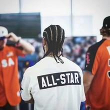 2017ss Best версия страх Божий пятый Коллекция футболка All Star вышивать хип-хоп сетки Футболка туман негабаритных футболки футболка