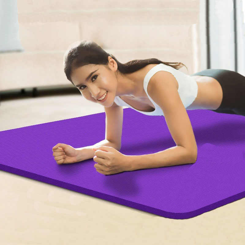 Thickened 15mm Non-slip Yoga Mats For Fitness Sports mat Yoga Mat Exercise Gym Mat Pilates Pads High Bounce outdoor pad 185*80cm