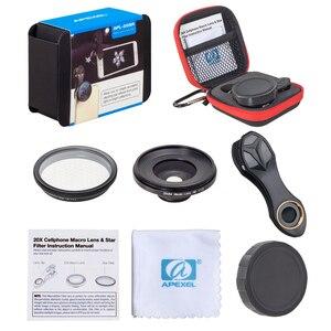 Image 5 - APEXEL 2in1 נייד טלפון עדשת 25mm 20x סופר מאקרו עדשה עם כוכב מסנן נייד צילום lente עבור smartphone APL 25SR