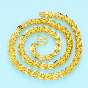 Image 3 - Collares de cadena clavcular fina para mujer, gargantilla de oro de 24 quilates, estilo bohemio, Bohemia boda, novia, joyería 2018