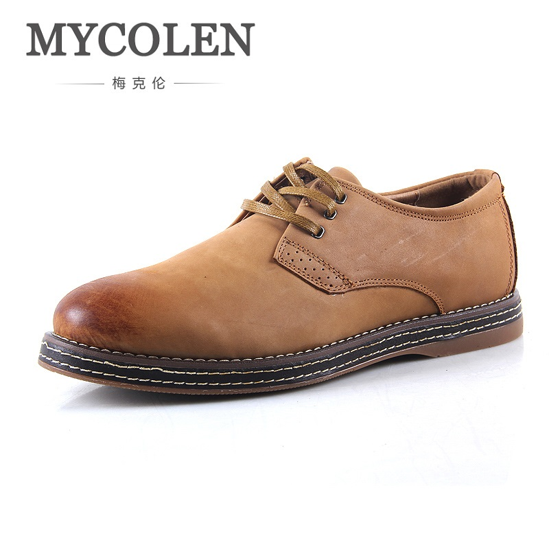 MYCOLEN Italian Business Mens Shoes Patent Leather Vintage Style Derby Shoes Men Formal Wedding Dress Shoes Herrenschuhe