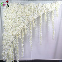 SPR artificial rose flower arch row big Triangula flowers panles wedding decoration flower wall backdrop table centerpiece flore