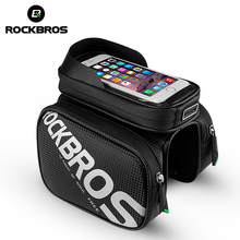 ROCKBROS Screen Touch Phone Removable Reflective Bicycle Bags 6.2 5.8 Waterproof 2 In 1 Top Tube Cycling Bike Accessories