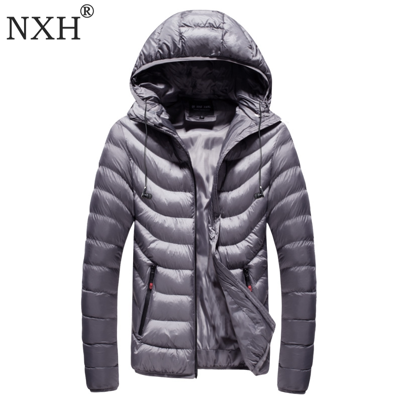 NXH 2018 Winter Mens jackets Hat Detachable Male Warm coats Windproof outer wear Zipper inner bag Hooded camouflag 7colors
