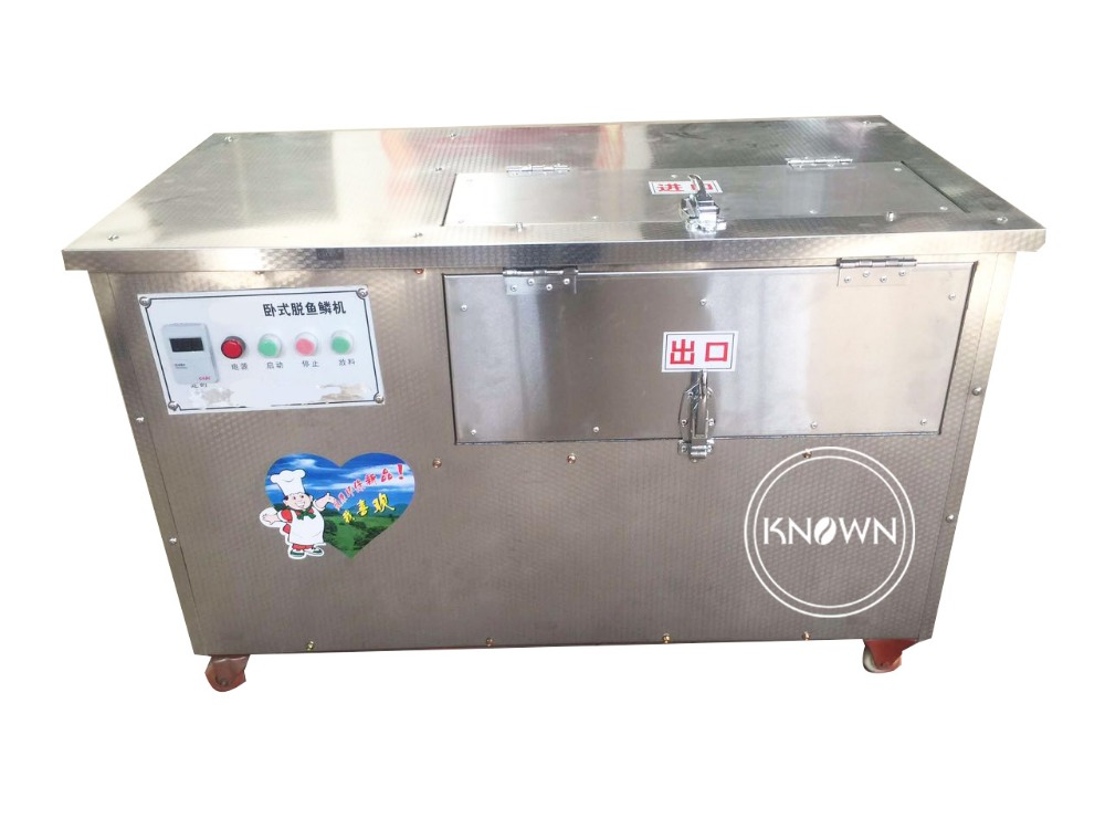 Food Grade Stainless Steel 100kg/batch Fish Scale Removing Machine Fish Cleaning Machine