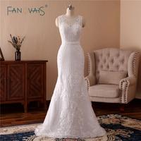 Chất Lượng cao Mermaid Wedding Dresses Dài Tay Áo Nặng Cườm Wedding Gown 2018 Ren Bridal Gown Robe de Mairage NW21