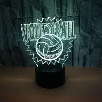 Voleibol 3d Lâmpada 7 Táctil a Cores Levou Noite Criativo Moderne Tabela Desk Lam 7 Cor Dimmer Mesa USB led 3d lâmpada