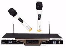 Staraudio Pro 2ch UHF Pro PA DJ этап церковной клуба Беспроводной ручной микрофон Системы MIC smuw-2005a