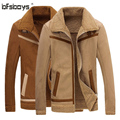 2016 new arrival winter High quality suede fur casual faishion jacket men,winterwool coat men,plus-size 2 colors,free shipping