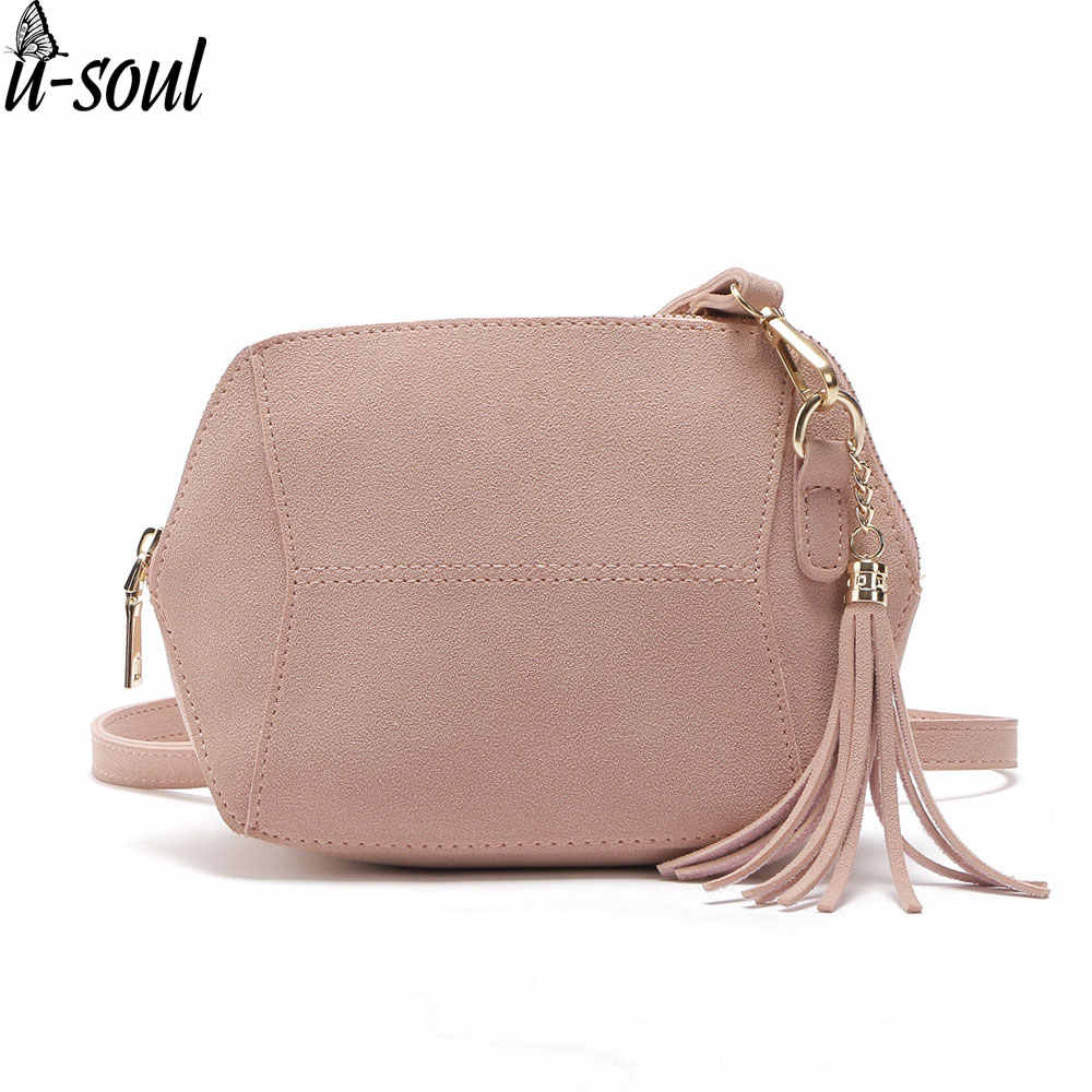 women shoulder bag fashion female messenger bag tassel crossbody Bags pu leather mini A806