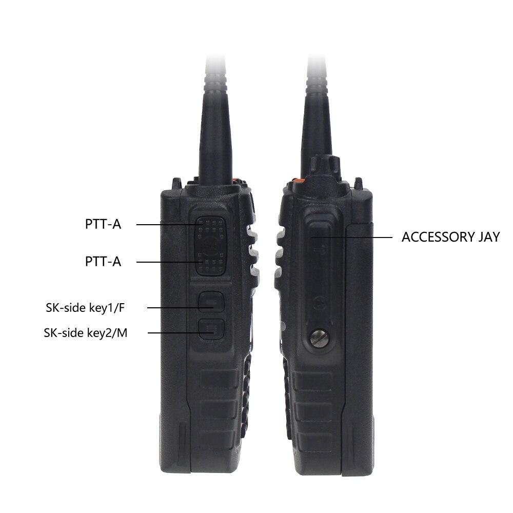 Image 4 - De Baofeng BF A58 Walkie Talkie IP68 impermeable 128CH de doble banda UHF, VHF Radio de dos vías transmisor FM portátil CB estación de Radio aficionadoTransceptor   -