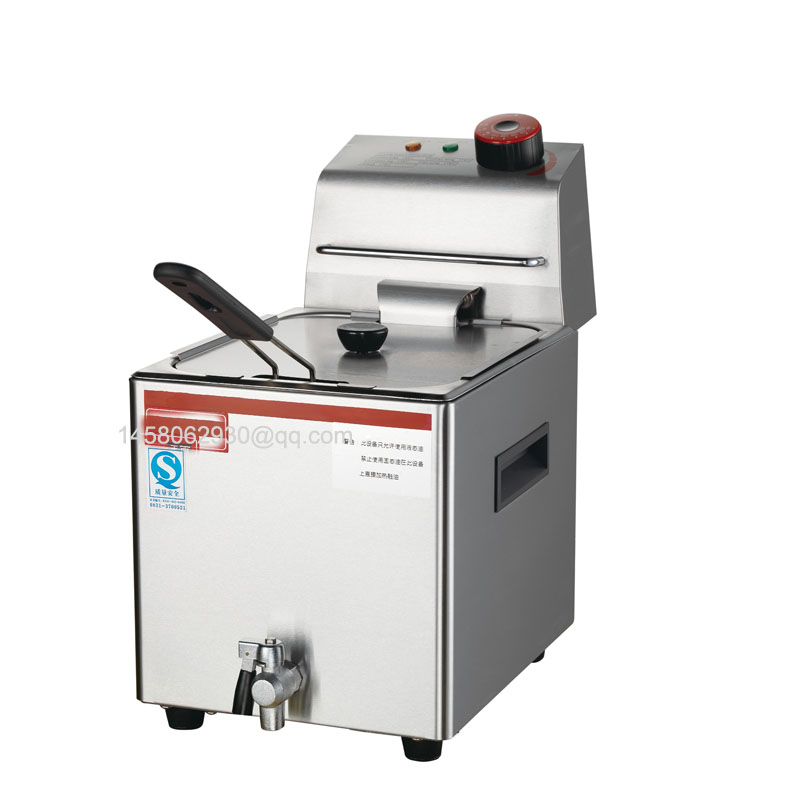 Commercial Electric 20L Deep Fryer with Drain Stainless