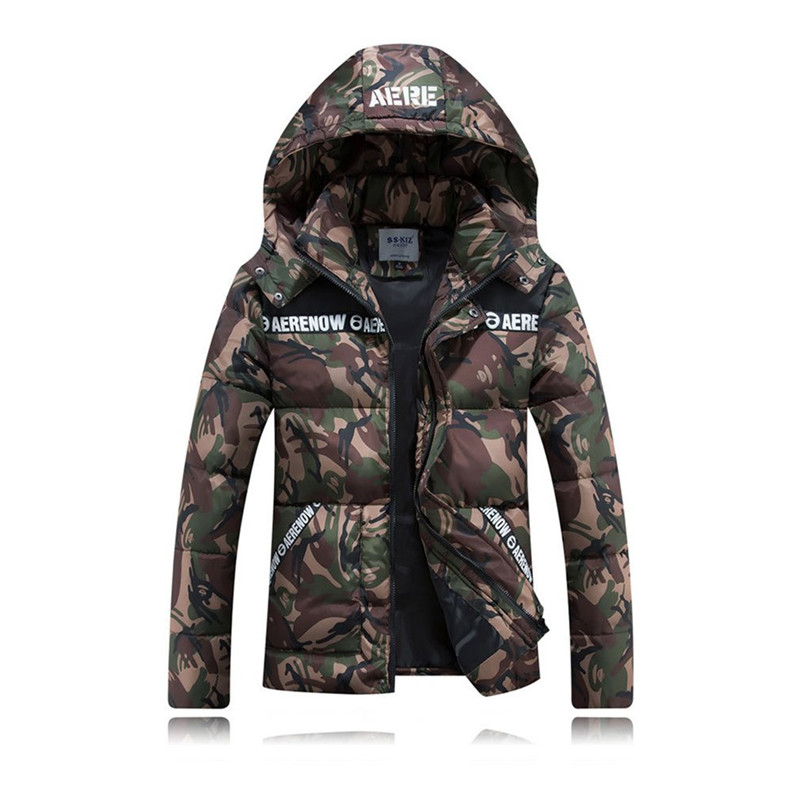 Camouflage Lover Cotton Jacket 2017 New Arrival Autumn Winter Casual Thickened Padded Coat Warm Slim-cut Outerwear Drop Shipping