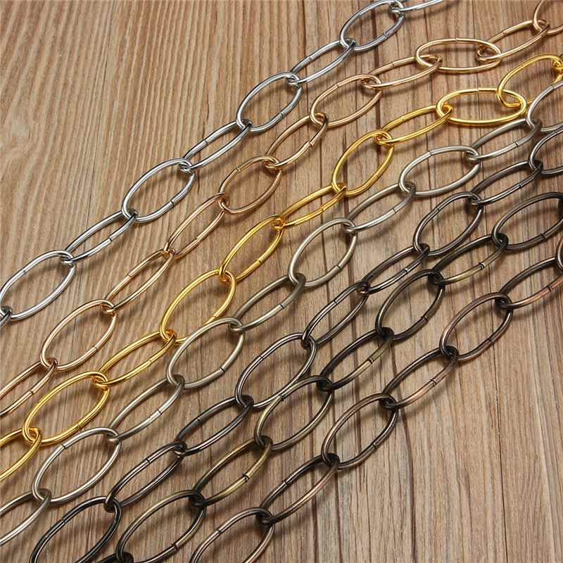 1M Heavy   Chain For Vintage Chandelier Ceiling Hanging Chain Pendant Lamp Lighting Fixture Holder 37mm*17mm