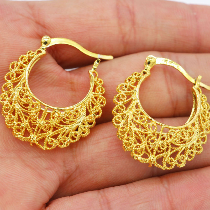 Size Ethiopian Gold Earrings Color African India Women Wedding Earring Jewelry For S Gifts In Stud From Accessories On