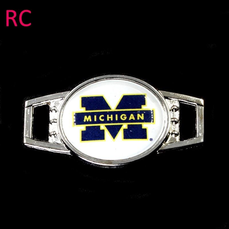 55# Michigan wolverinrs Shoelace Buckles Charms Shoe Lace Inserts Shoe Accessories Paracord Bracelets Decoration