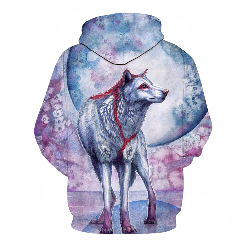 Wolf Printed Hoodies Men 3D Hoodies Brand Sweatshirts Boy Jackets Quality Pullover Fashion Tracksuits Animal Street wear Out Coat 63