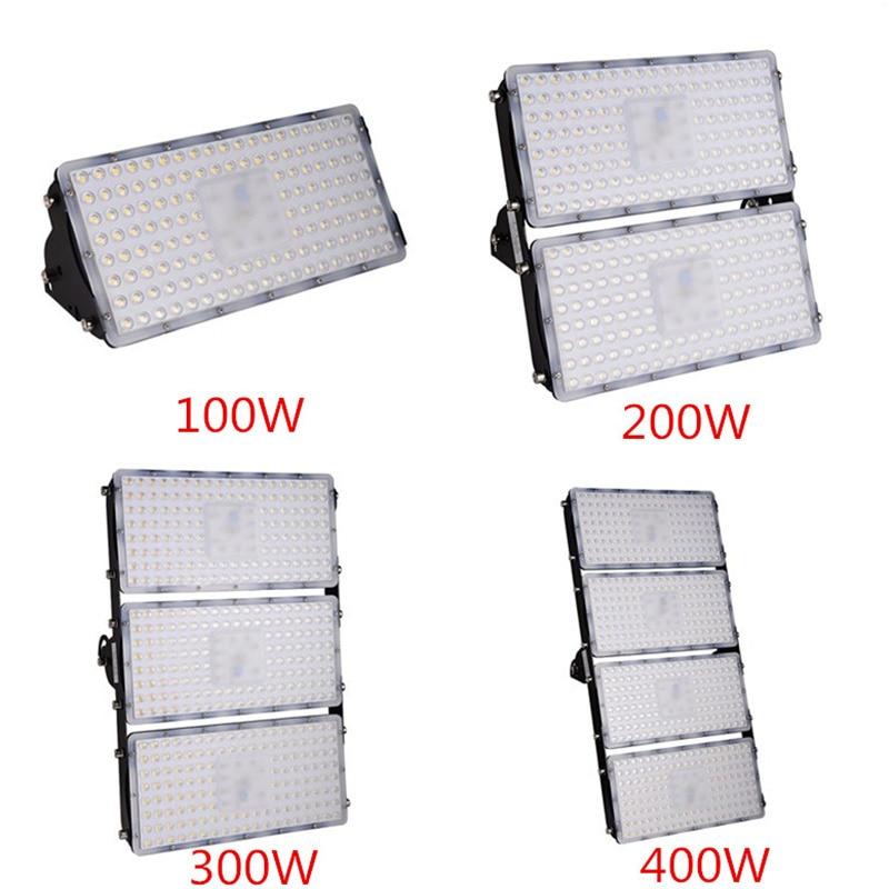 1Pcs Module LED Flood Light 100W 200W 300W 400W 110V 220V SMD 2835 Waterproof LED Outdoor Lighting Garden Street Lamp Floodlight