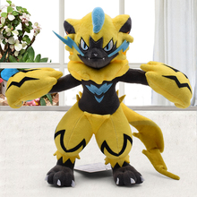 27cm Zeraora Peluche Dolls Toy Cute Cartoon Anime Animal Stuffed Plush Toys Gift For Children Free Shipping