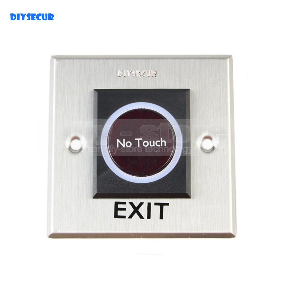 DIYSECUR Exit Button Infrared No Touch Induction Switch Style  / Access Switch / Exit Switch for Access Control System кухонная мойка teka classic 1b 1d lux