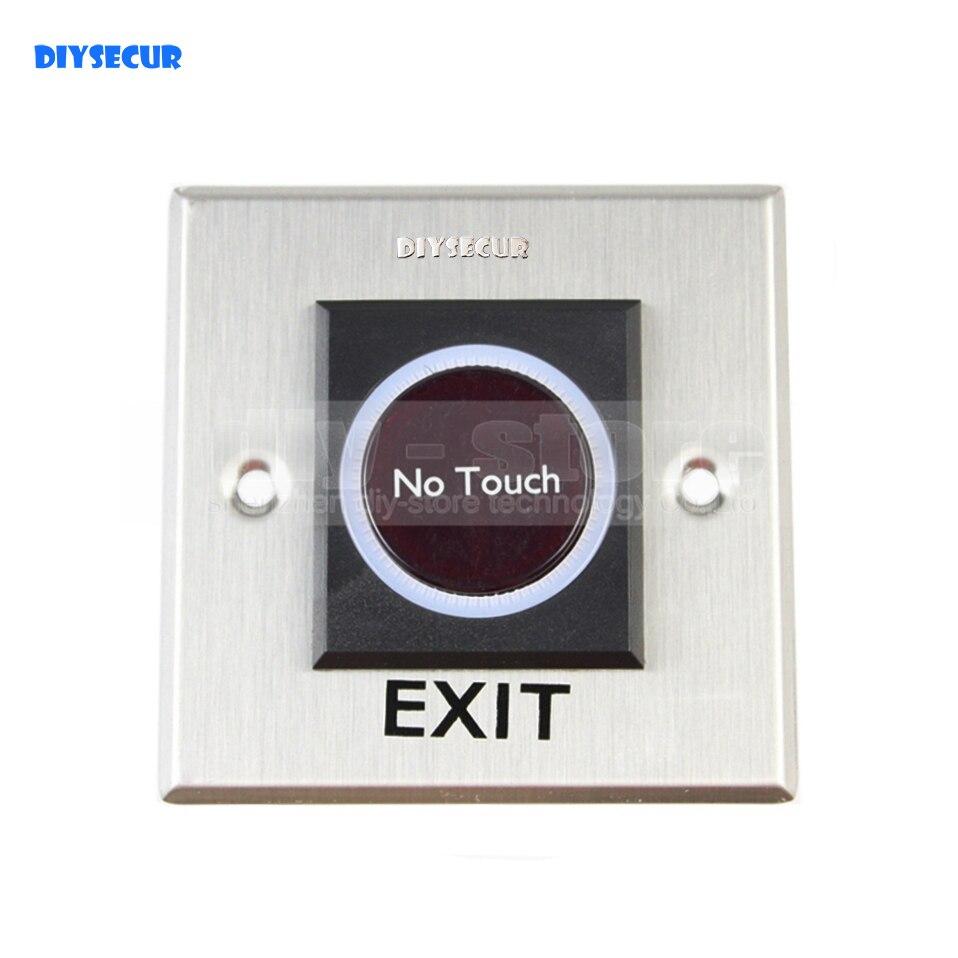 ⑧Diysecur botón de salida infrarrojo no Touch inducción interruptor ...