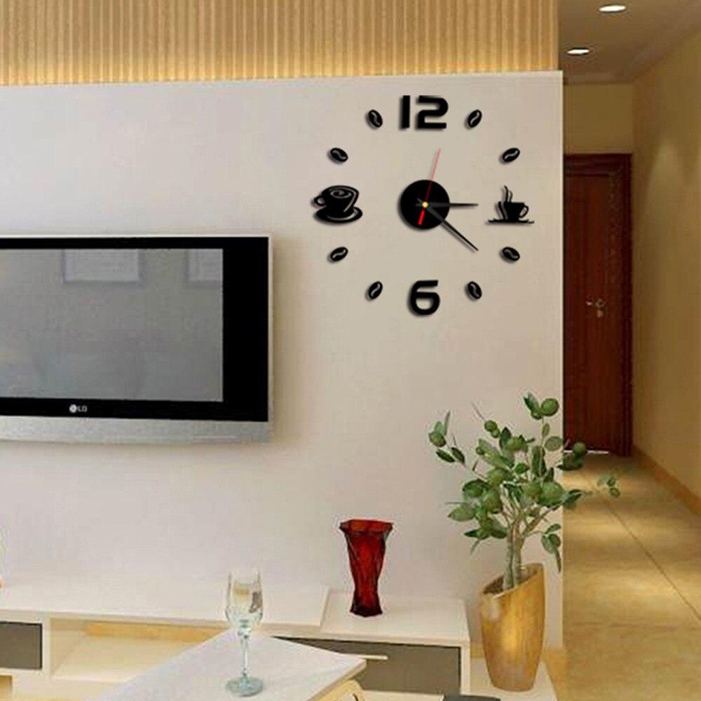 Clock Watch Removable Diy Acrylic 3D Mirror Wall Decorative Clock Decorative Clocks Watch Wall Unique Gift Drop Shopping #1DQ