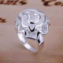 Rings 925 Fashion Jewelry gift rings for women men best selling wholesale free shipping silver rose flower rings GY-AR286(China)