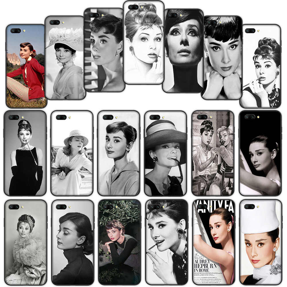 Audrey Hepburn Soft Cover Case for Huawei P9 P8 Lite Mate 10 20 30 Lite Pro