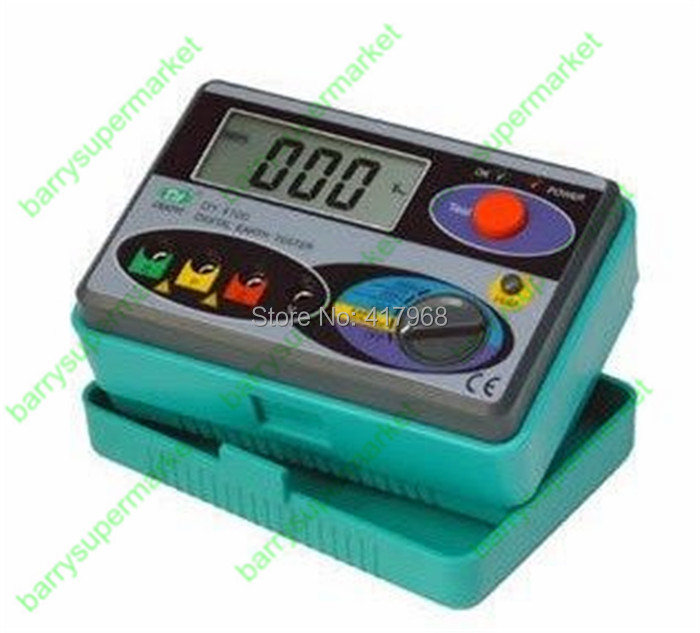 Resistance Meters Digital Earth Tester Meter Megohmmeter DY4100 0 2000Ohm Ground Resistance Tester Monitor Multimeter