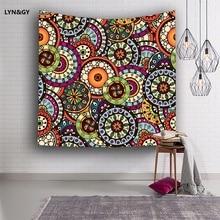 LYN&GY Geometric Irregular Hippie Mandala Pattern Tapestry abstract painting Art Wall Hanging Gobelin Livingroom Decor Crafts